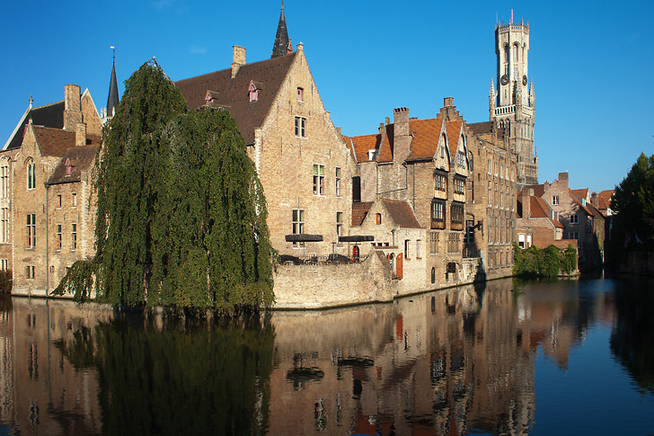 Bruges in Belgium. They call it the venice of the north